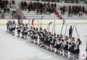 The LS Girls Hockey Team at last year's Warriors for Warriors game.