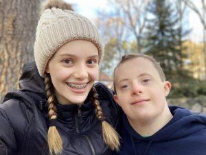 Siblings Ann and Max Badowsky.
