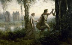 The myth of Eurydice and Orpheus.